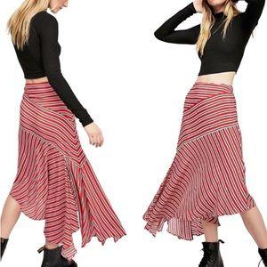 FREE PEOPLE Luna Skirt Asymmetrical Slit Hem Sz 0